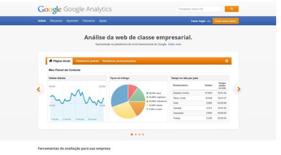 Uma das principais do Google, o Analytics também funciona para análise de SEO.